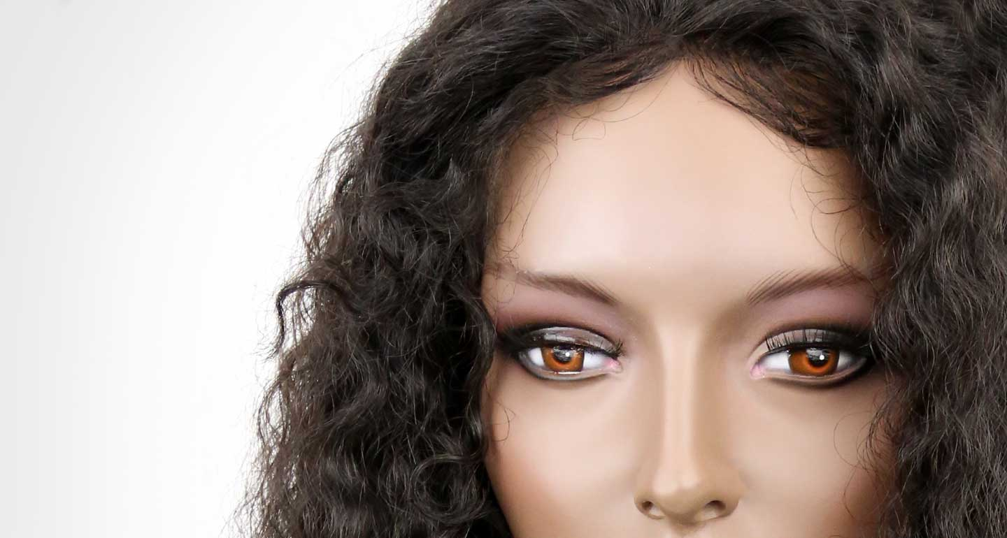curly invisible lace frontal