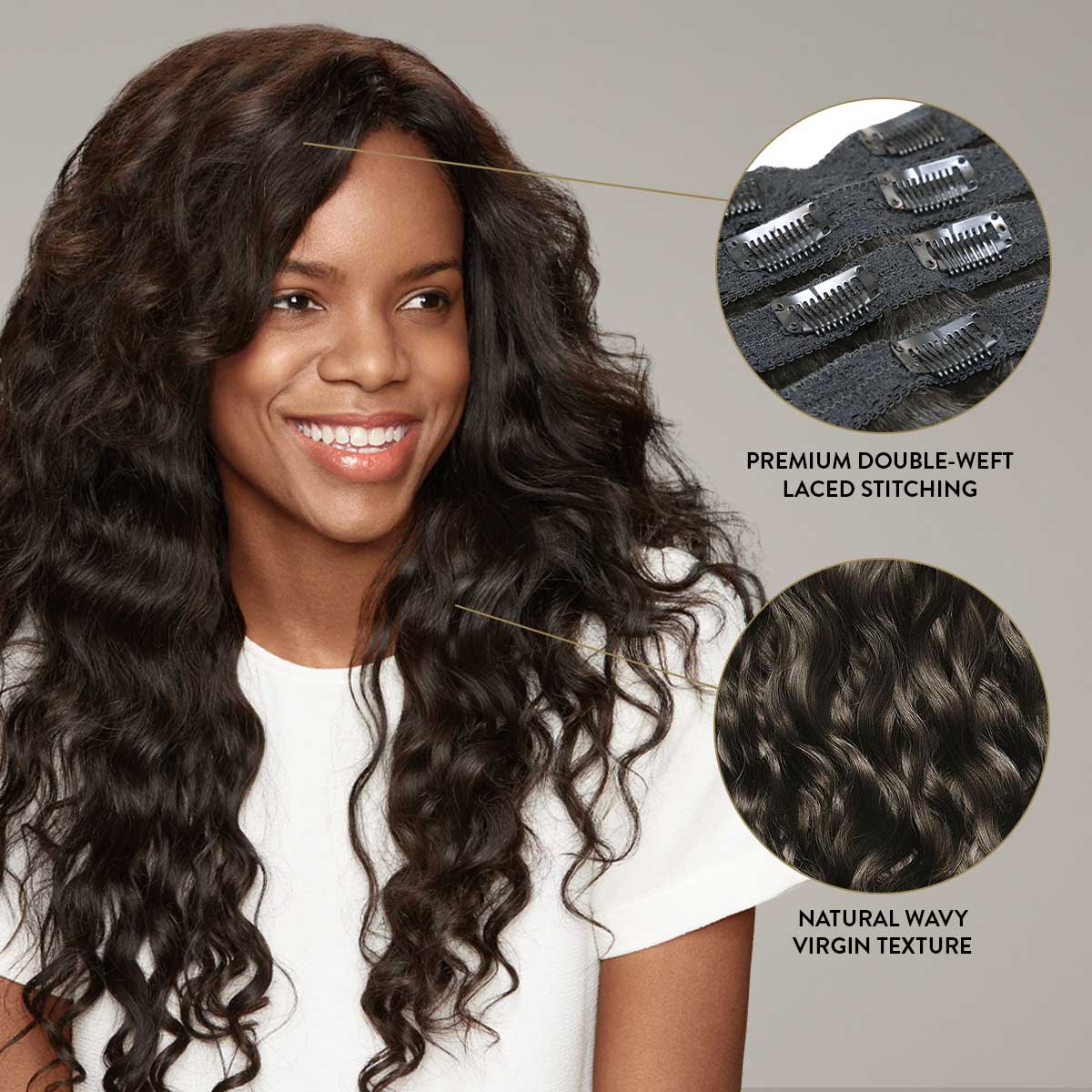 7 Piece Clip in Hair Extension Set