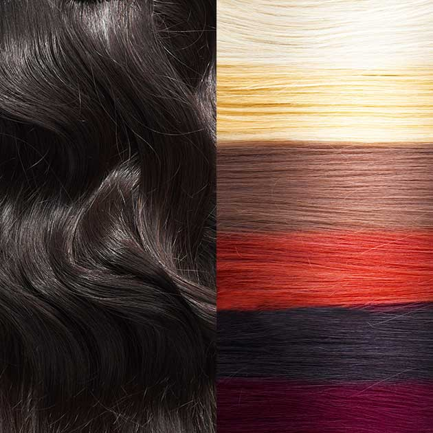 Virgin and natural colored options