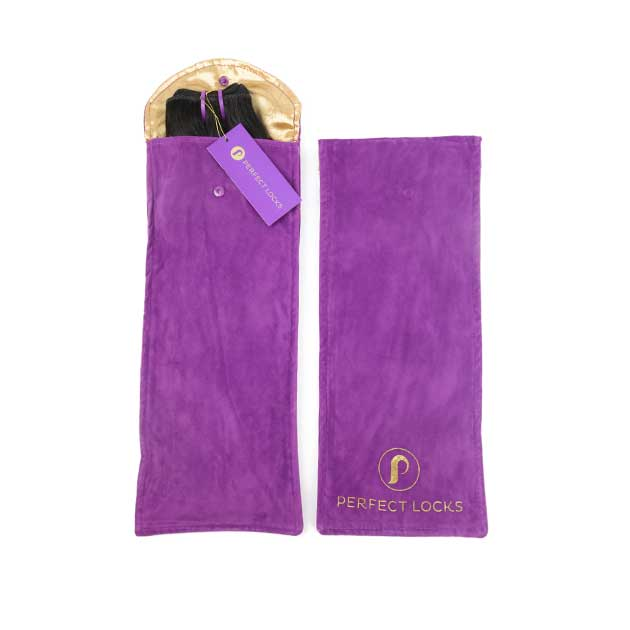 satin-silk velvet storage pouch